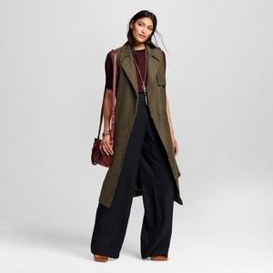 Who What Wear forest green suede trench vest